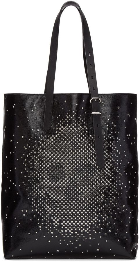 Tote Bag, Black, Leather, 2017, one size Alexander McQueen
