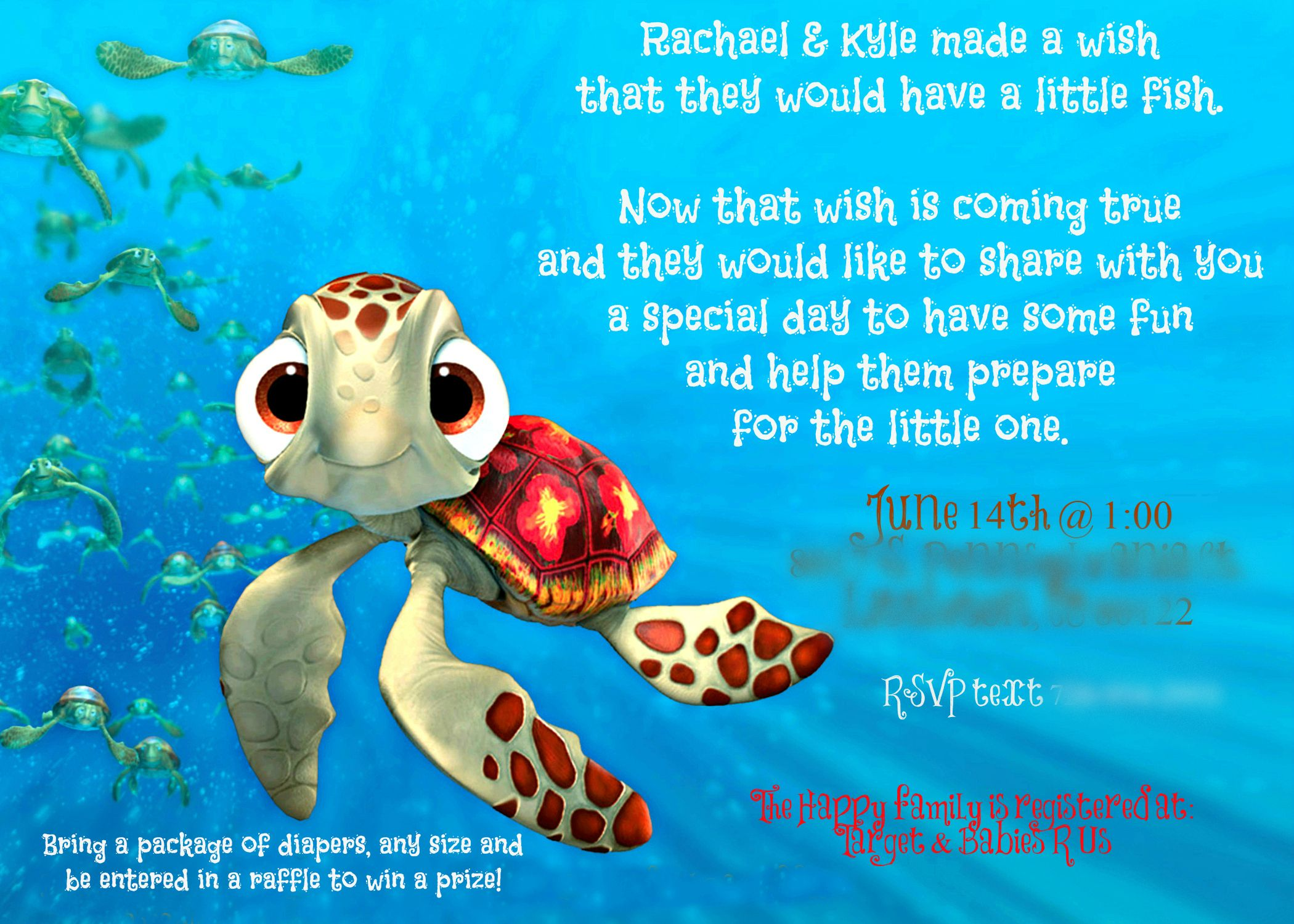 Finding Nemo Baby Shower Invite In 2019 Boy