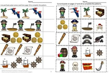 pirate kindergarten special education autism cut and paste fine motor skills hooray for the. Black Bedroom Furniture Sets. Home Design Ideas