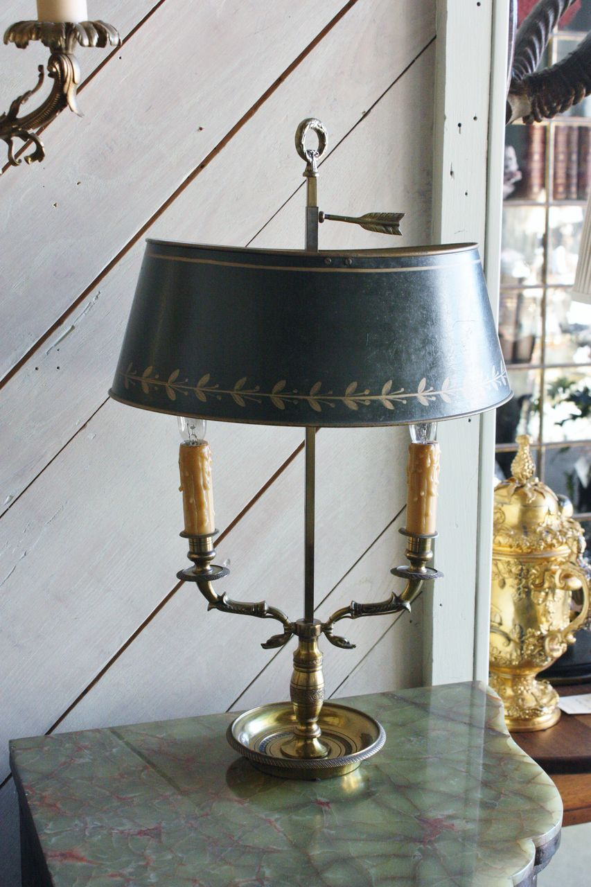 French Tole Bouillotte Lamp