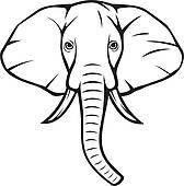 Elephant Head African Clipart Panda Free Clipart Images Elephant Head Drawing Elephant Face Elephant Drawing