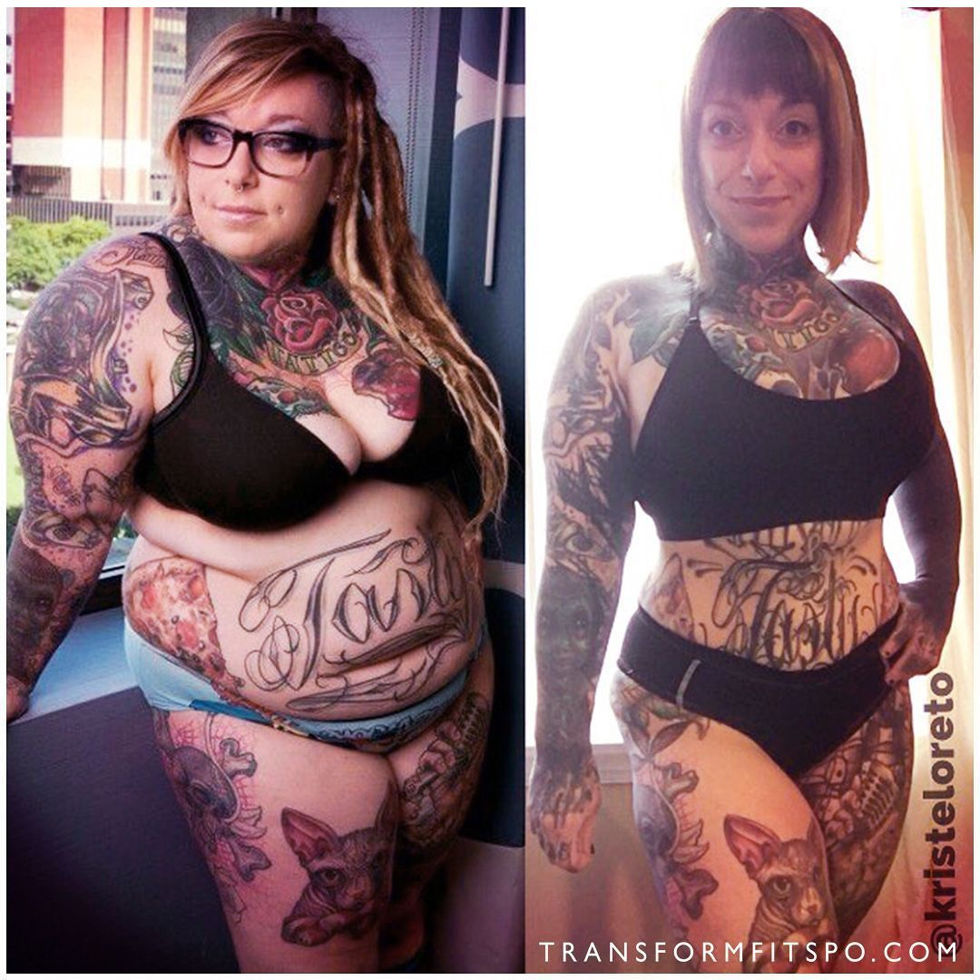 """Comment with what you think! @kristeloreto: """"My transformation from 306lb to 178lb was far from easy. However in both work and life I thrive on overcoming challenges. I have always been proud of my body even when being overweight. As we age our outlook on life and perspectives change. After my heart was broken from ending a long personal relationship I channeled my frustrations into working out and living a healthier lifestyle. Soon I began to see results which caused me to become more…"""