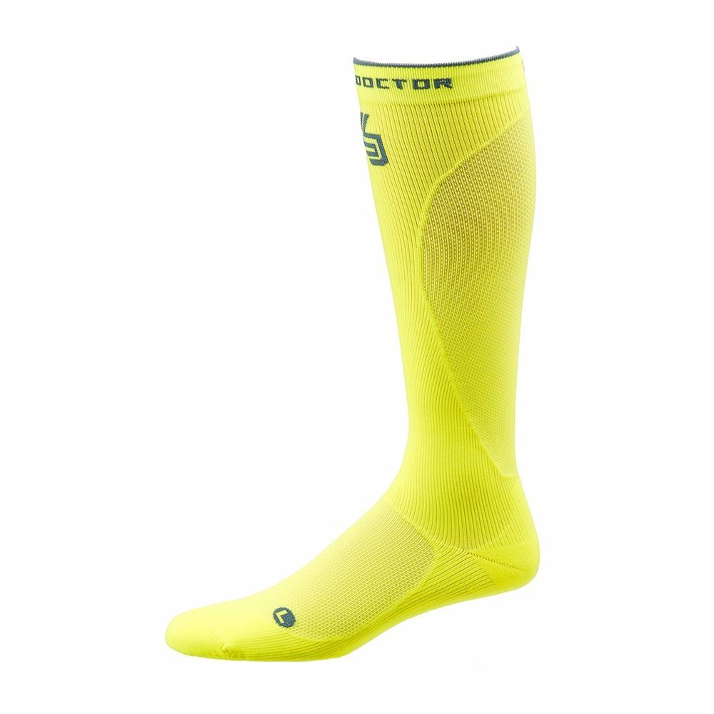 a94f441a45b3a1 New Shock Doctor SVR Recovery Compression Socks Yellow X-Small #ShockDoctor  #ComprenssionSocks