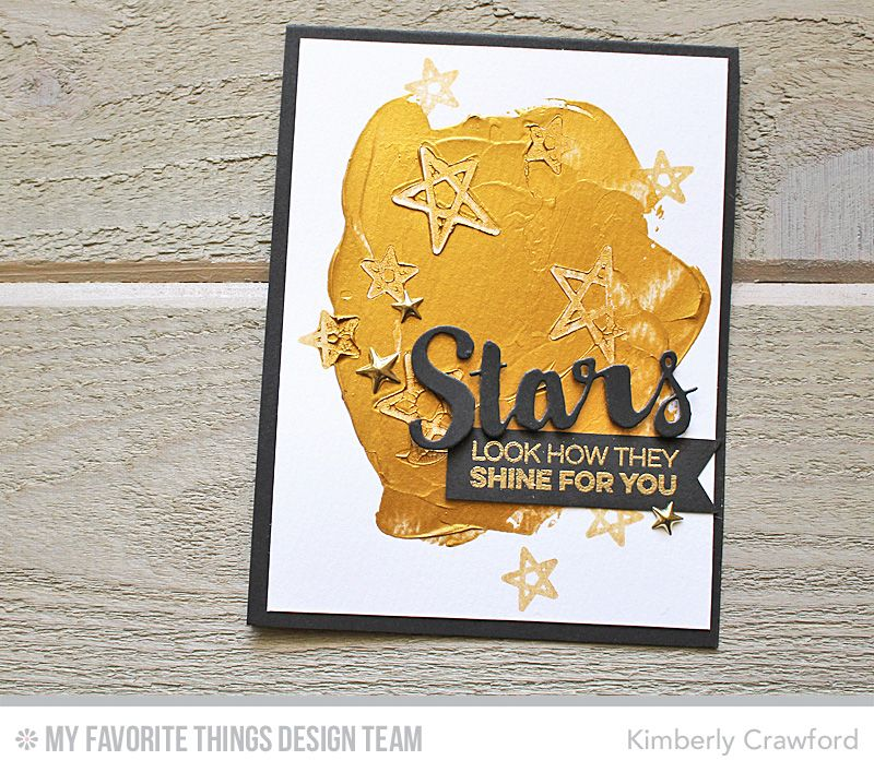 Count the Stars, Stars & Wishes Die-namics - Kimberly Crawford #mftstamps