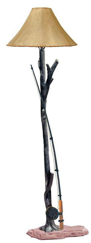 Fishing Rod Floor Lamp Fishing Room Cabin Chandelier Floor Lamp