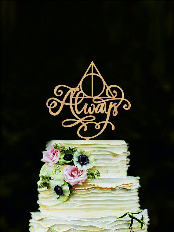 Harry potter wedding cake topper always cake topper harry potter harry potter wedding cake topper always cake topper harry potter cake decorations love cake topper always cake sign junglespirit Choice Image