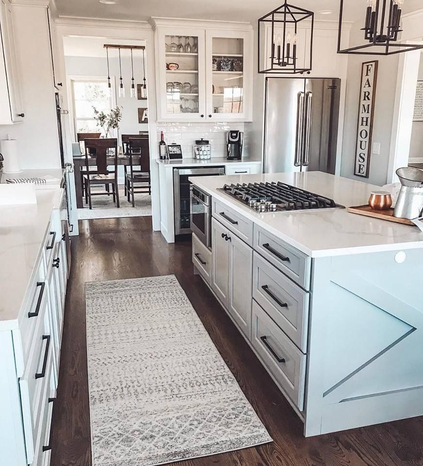 P I N T E R E S T Raychelnycole Kitchen Remodel Layout White Kitchen Design Farmhouse Kitchen Design