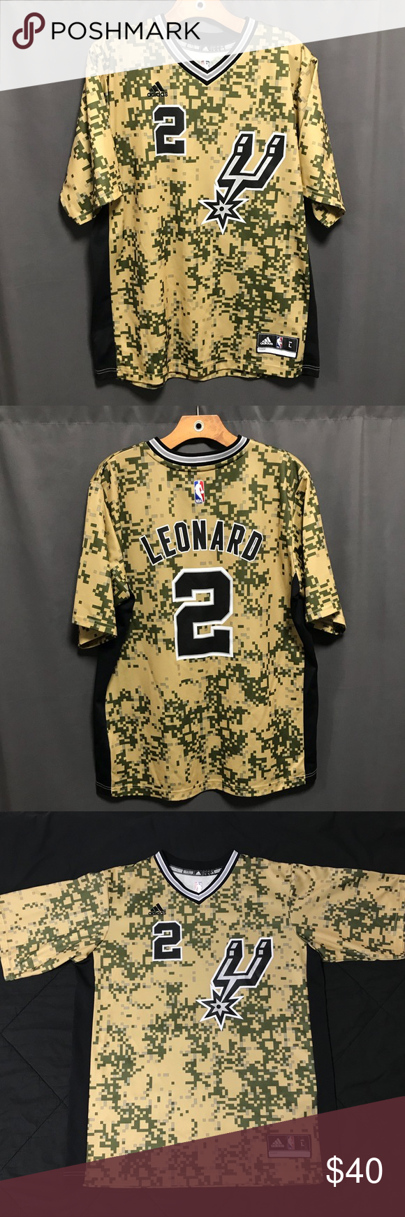 c3491799 NBA Jersey San Antonio Spurs Kawhi L. adidas Camo -Men's San Antonio Spurs  Kawhi Leonard adidas Camo Pride - I only wore this shirt about 3 or 4  times, ...