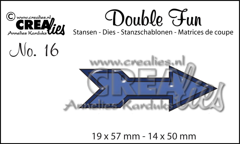Double Fun Dies No 16 Double Arrow Http Www Crealies Nl Detail 1142026 Double Fun Stansen No 16 Doubl Htm Scrap Paper Fun Gaming Logos