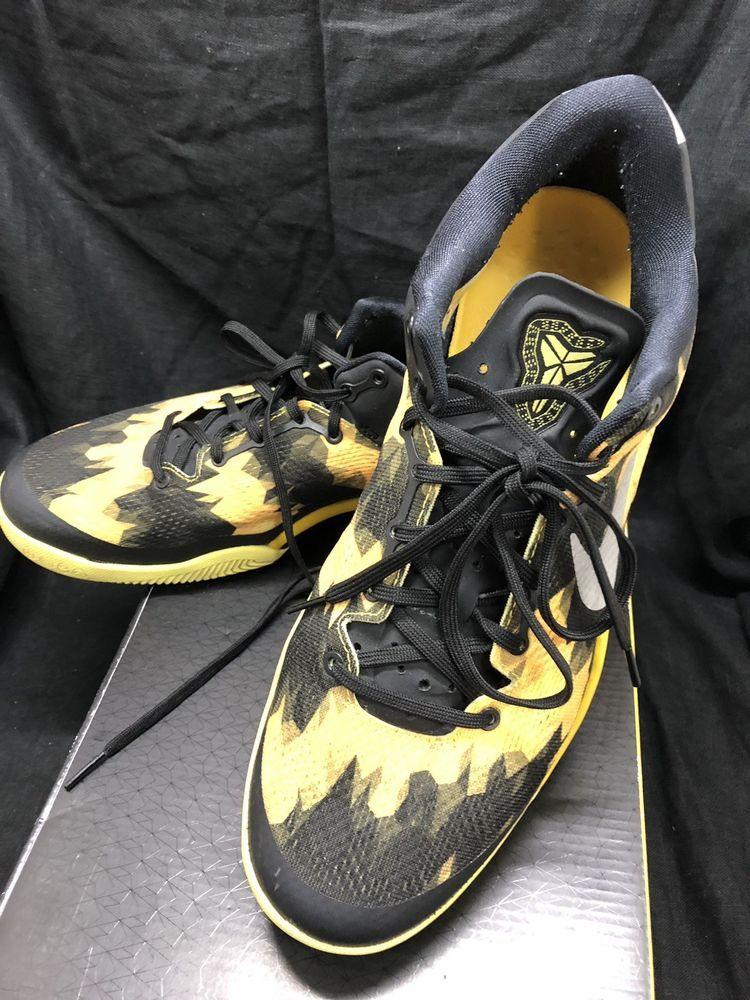 free shipping df610 c9e7a NIKE KOBE 8 SYSTEM BLACK-GREY-SULFUR YELLOW (US Size12) 555035-001  fashion   clothing  shoes  accessories  mensshoes  athleticshoes (ebay link)