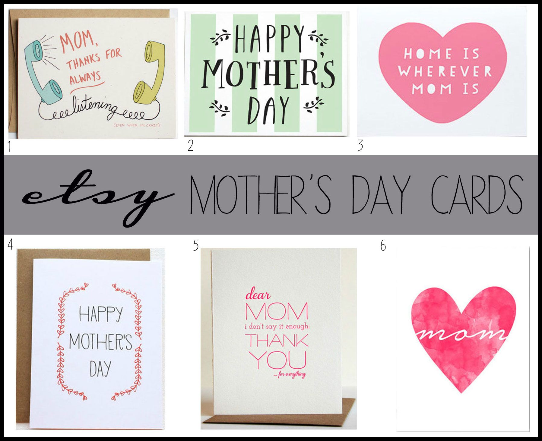 Etsy mothers day cards