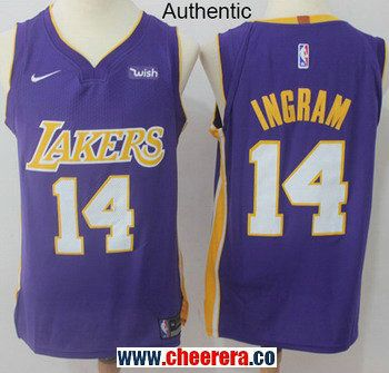 1d86ab737 Men s Nike Los Angeles Lakers  14 Brandon Ingram Purple NBA Authentic  Statement Edition Jersey
