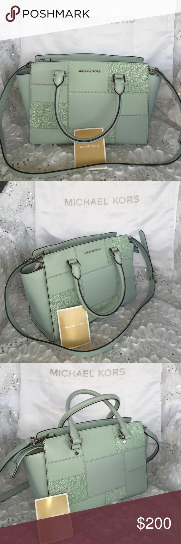 Micheal Kors Handbag Gorgeous Mint Green Made By Michael Bags Satchels