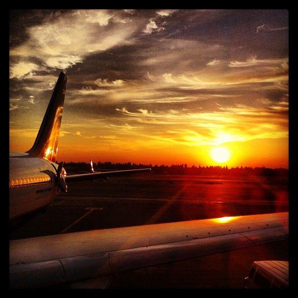 #icelandair #seatac #sunset - @tahoeblue- #webstagram