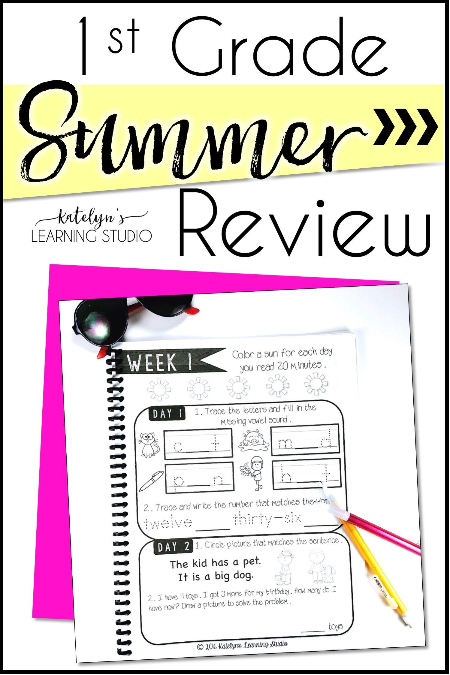 1st Grade Summer Review Packet