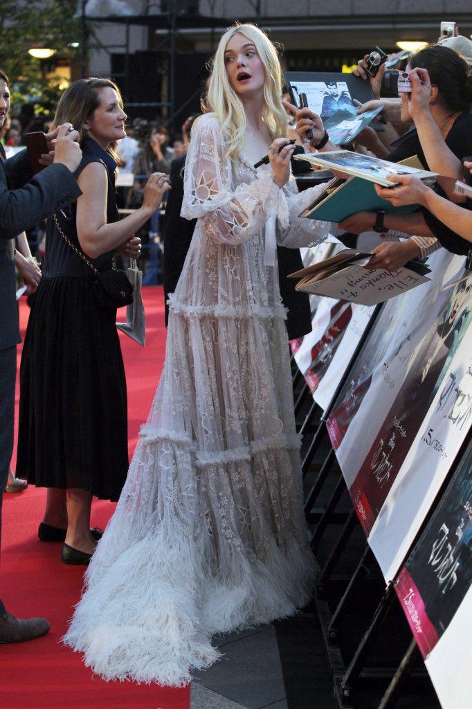Elle Fanning Maleficent Premiere In Tokyo Style In