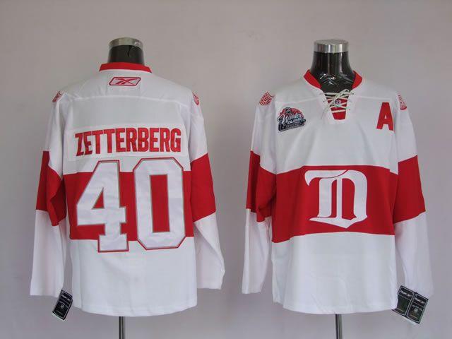 e4e090ca3 Detroit Red Wings 40 Henrik ZETTERBERG Winter Classic Jersey ...