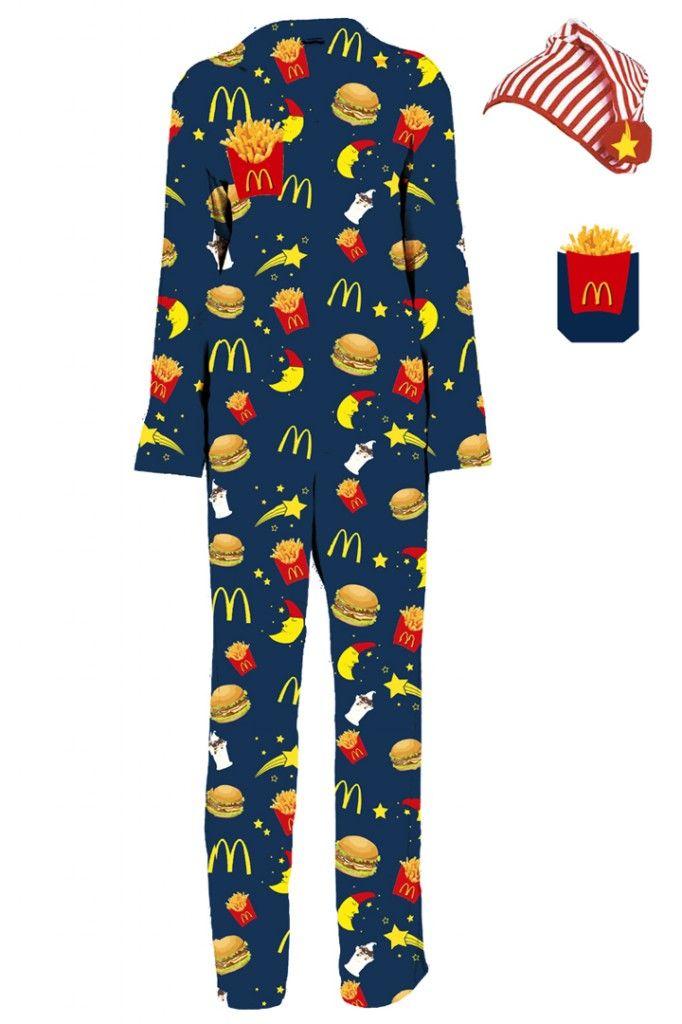 020f7ac6485 McDonald s Pajama Set to celebrate the late night menu ...