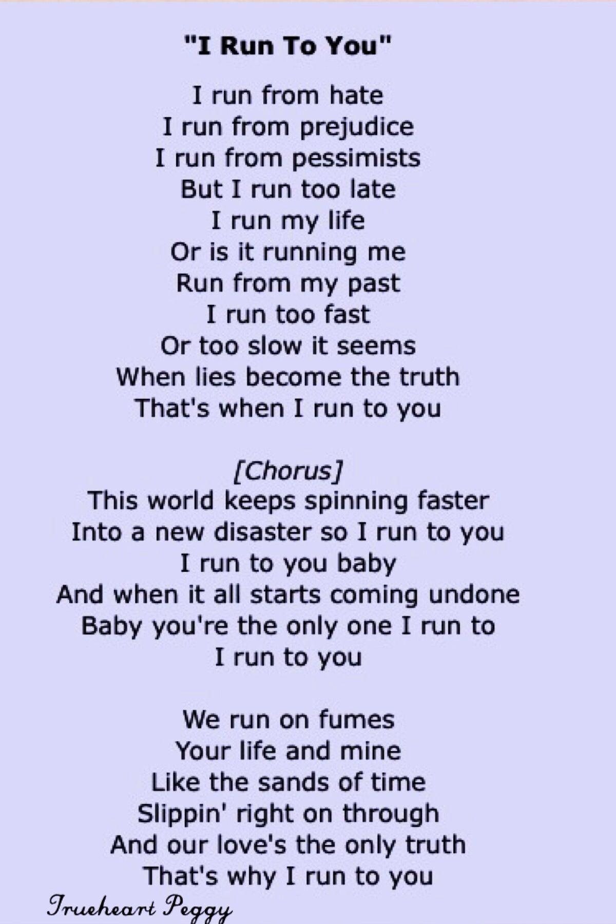 I run to you lyrics Lady Antebellum Rick and Kates source of