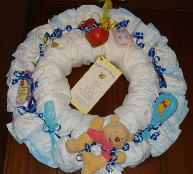 Diaper Wreath-Winnie the Pooh