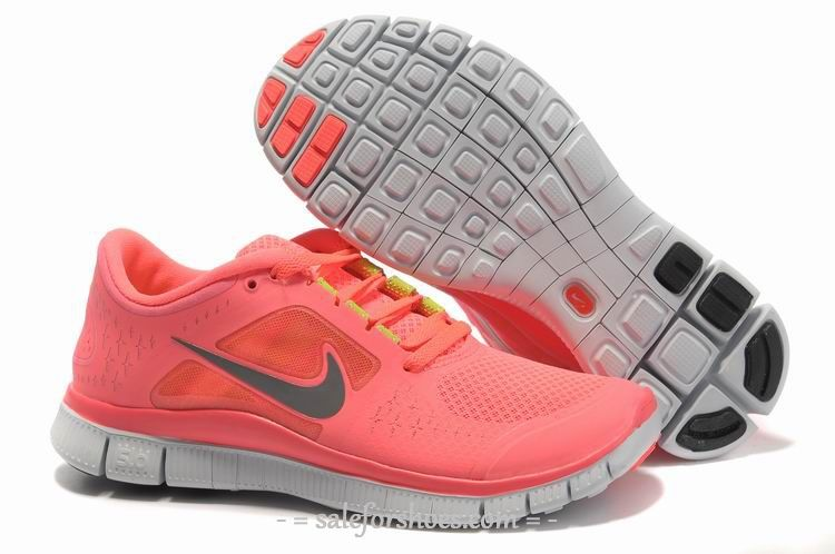 262637148a543 Discount 2014 New Arrival Nike Free 5.0 V3 Womens Running Shoes Pink Grey