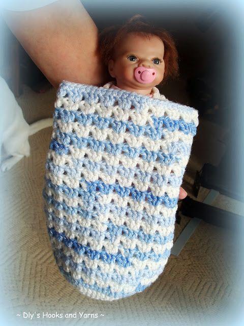 blue skies\' preemie baby cocoon | Crocheted Preemie/Micro Baby ...