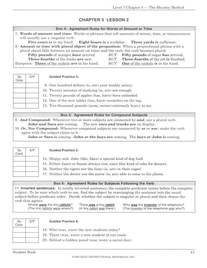 Shurley English Worksheets in 2020 Worksheet template