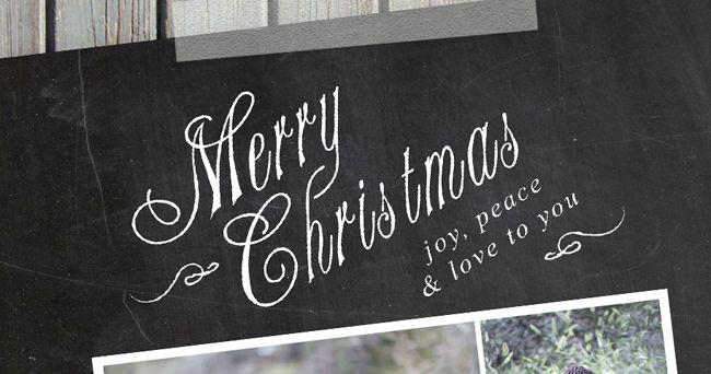 November Freebie Chalkboard Holiday Card Template! Card - christmas card layout