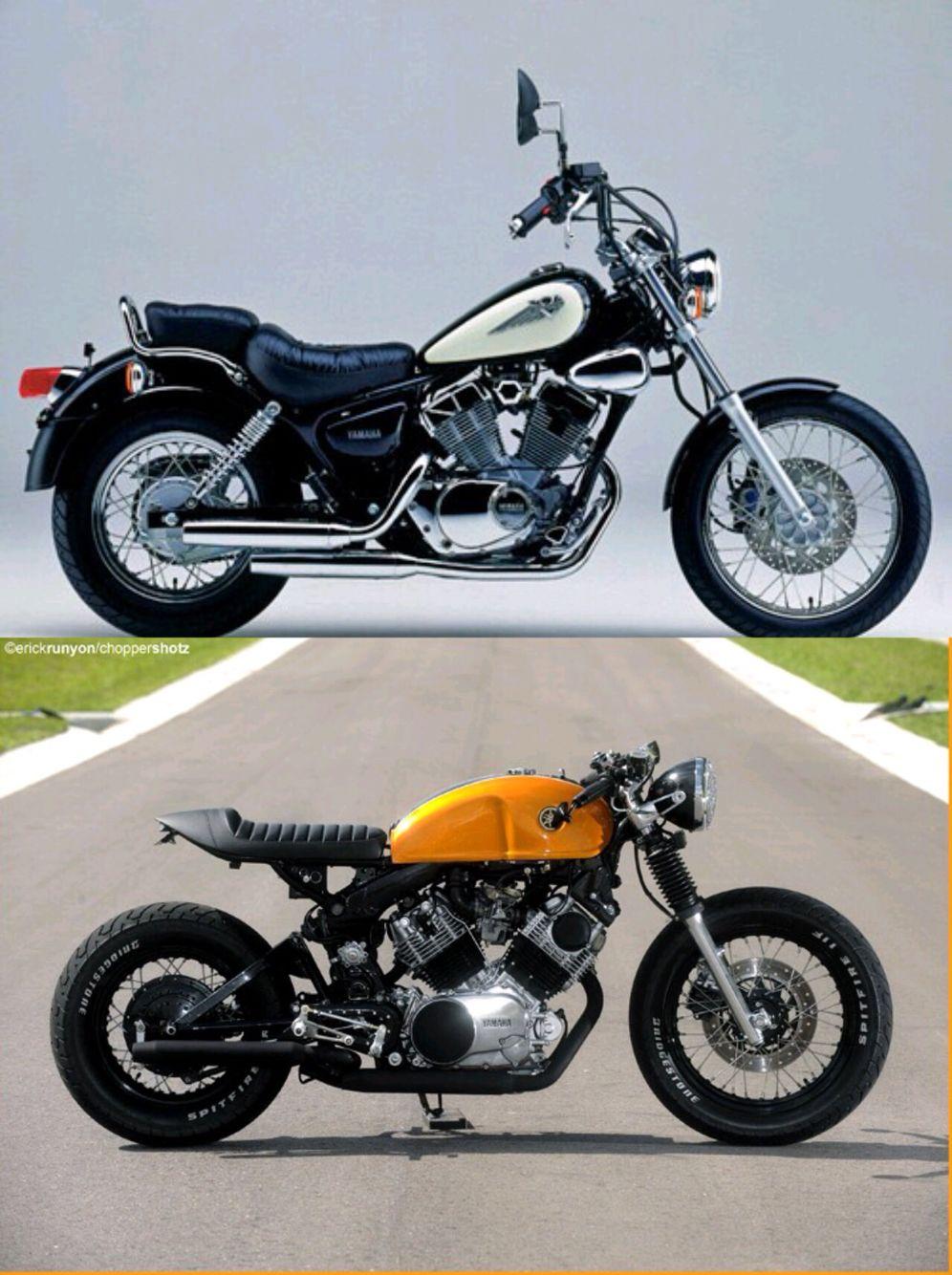 virago yamaha 125 cc caf racer caf racer pinterest moto avant apr s et roue. Black Bedroom Furniture Sets. Home Design Ideas