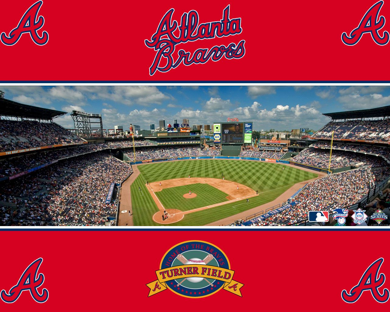 Turner Field Atlanta Home Of The Atlanta Braves Atlanta Braves Atlanta Braves Wallpaper Braves