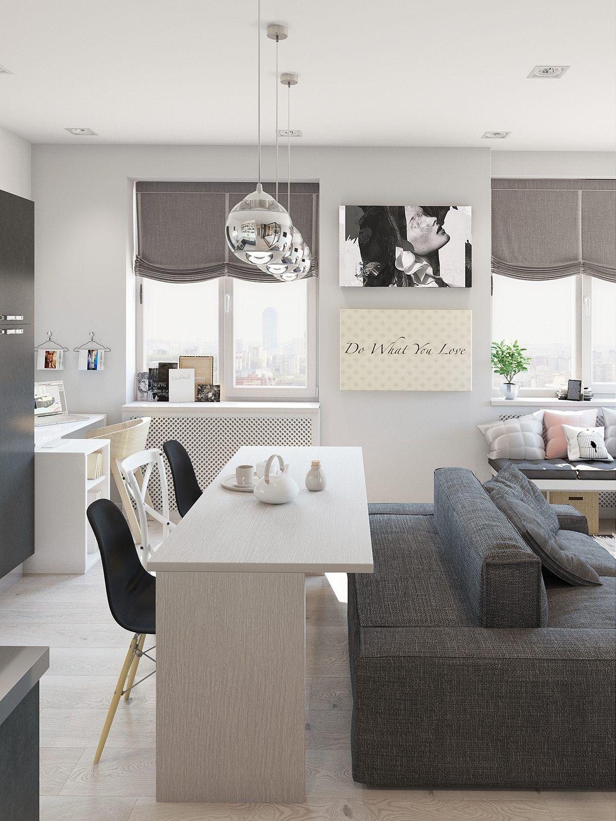 cute apartment interior design deco pinterest appartements. Black Bedroom Furniture Sets. Home Design Ideas