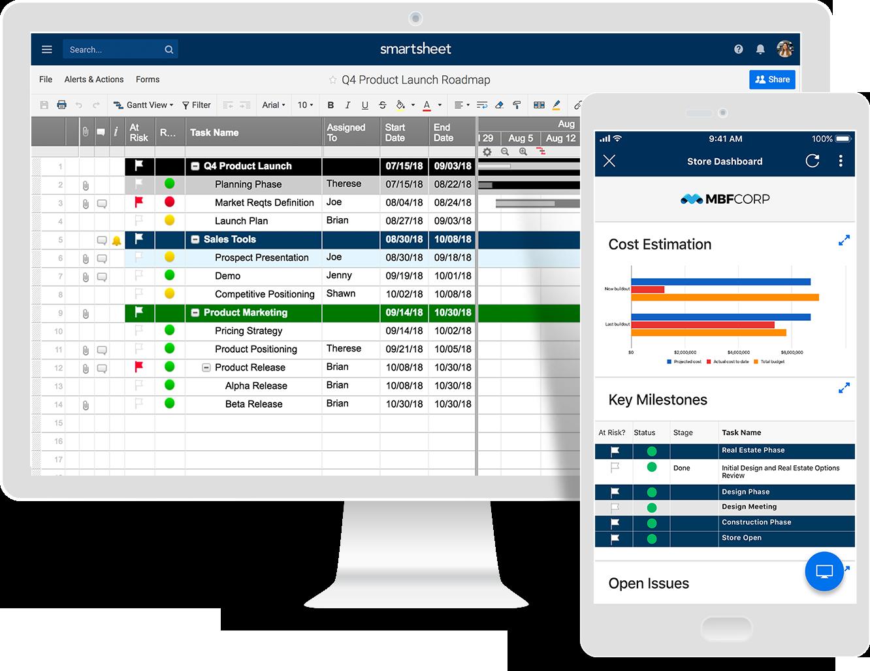Product Overview Smartsheet Smartsheet Gantt Launch Plan