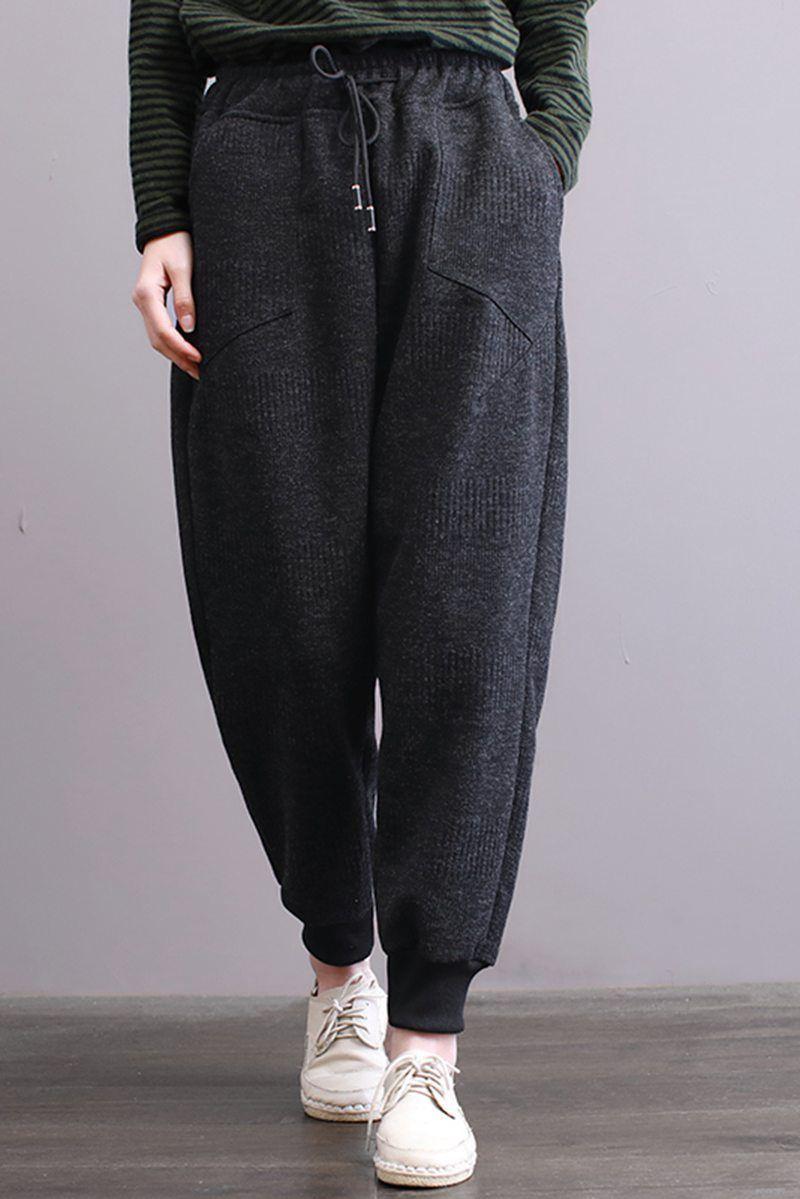 Fantasylinen cotton loose sport pants women casual