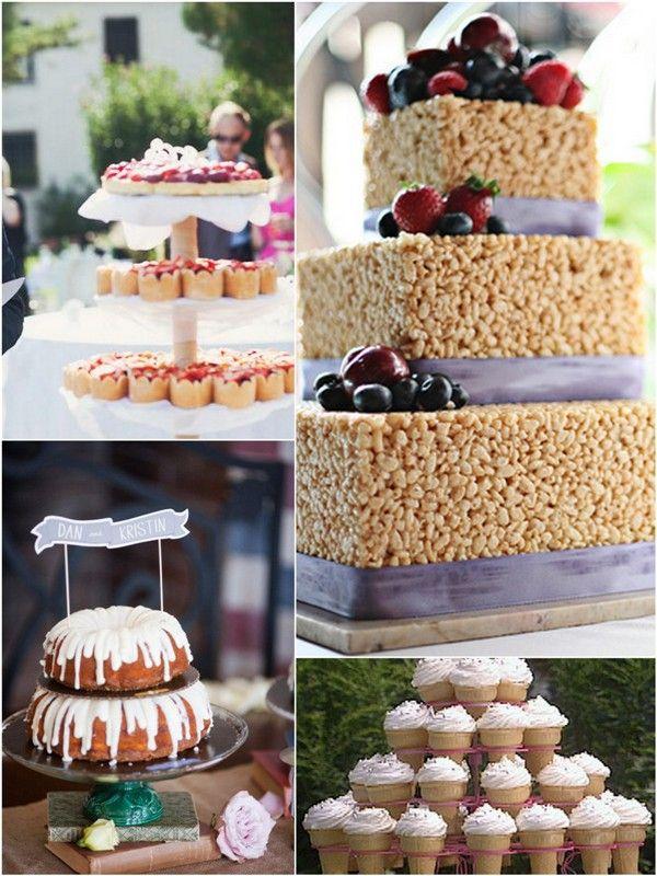 Nontraditionalweddingcakes Cake Baskets Rice Crispis Wedidng