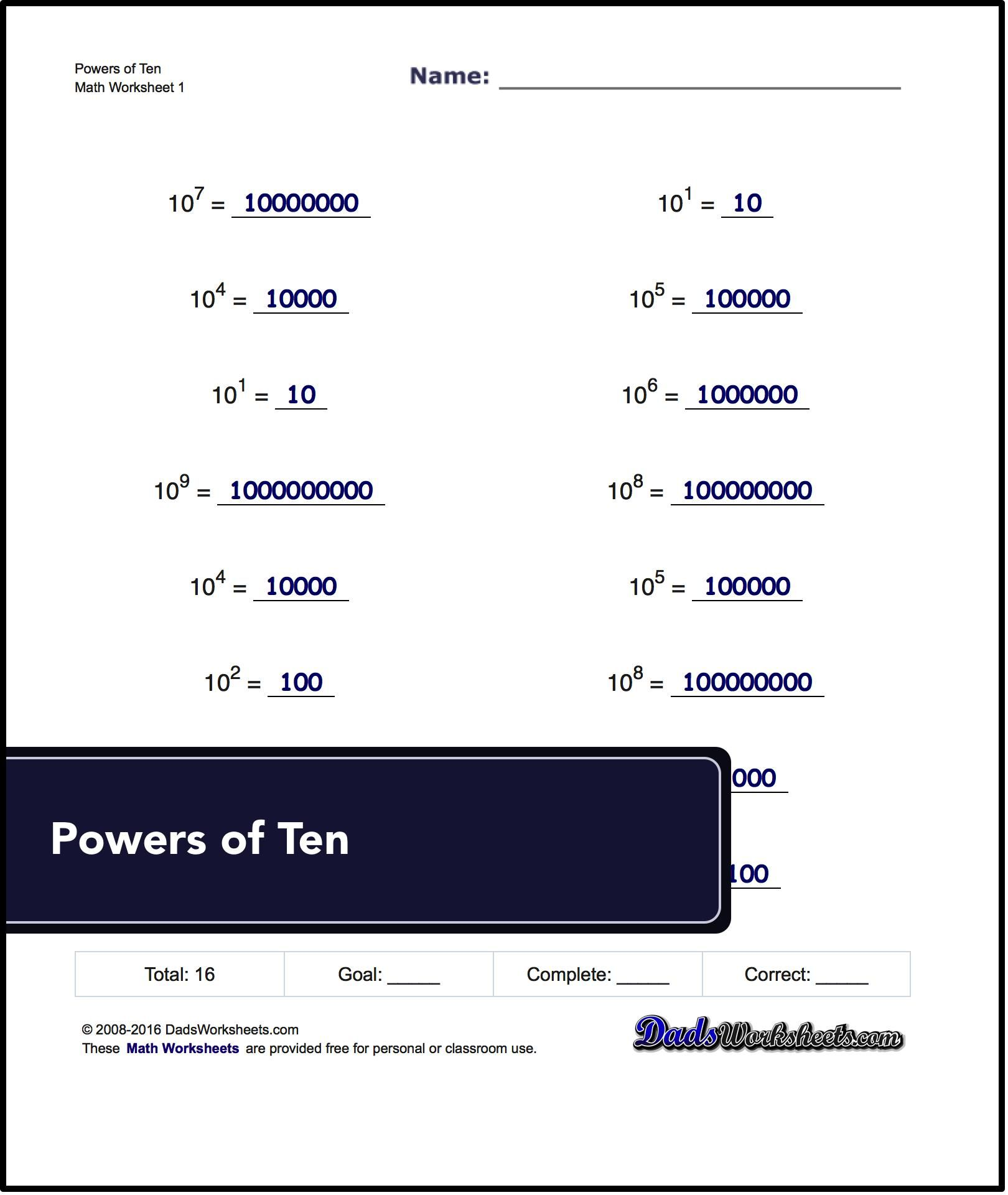 Scientific Notation With Decimals Worksheets Free At