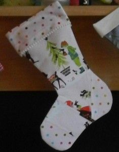 Christmas Stocking Free Sewing Pattern, in two sizes.
