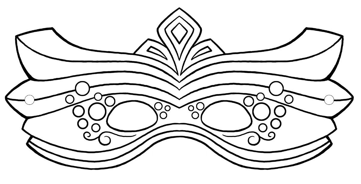This is an image of Printable Mask intended for blank