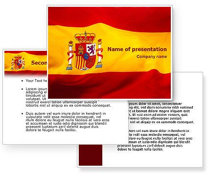 spanish flag powerpoint template backgrounds for presentation, Modern powerpoint
