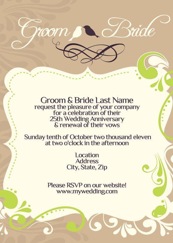 Wedding   Vow Renewal Invitation I Design You Print by schavez - fresh invitation samples for 50th wedding anniversary