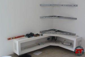 Fabriquer un meuble tv en placo deco pinterest - Fabriquer un support mural tv ...