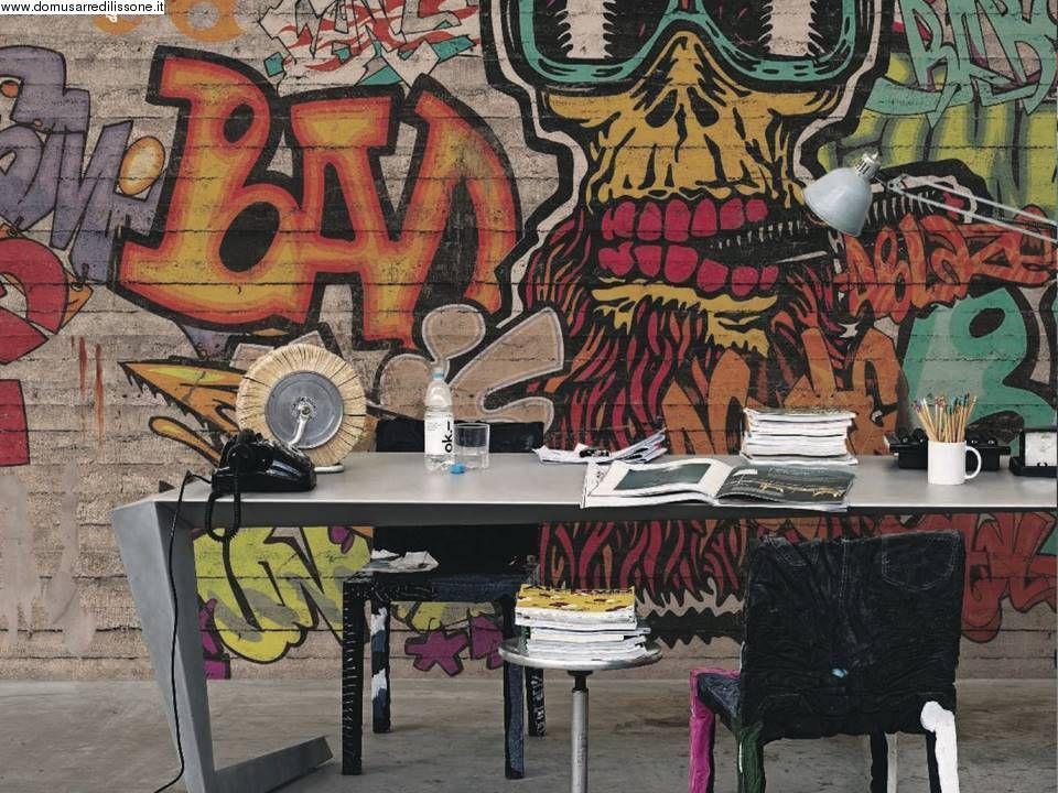 Carta Da Parati Per Camerette Ragazzi : Carta da parati per cameretta con graffiti walls to die for