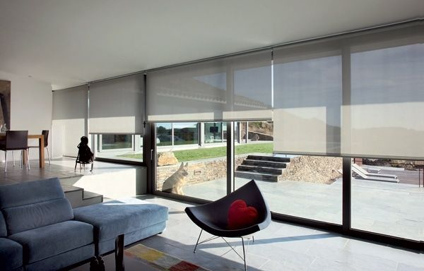 Delamaison Meubles Et Accessoires Design Rideaux Design Rideau Baie Vitree Store Enrouleur