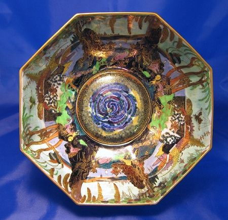 Wedgwood Fairyland Lustreware Octagonal Bowl, by Daisy Makeig-Jones, ca.1920.  $6,500