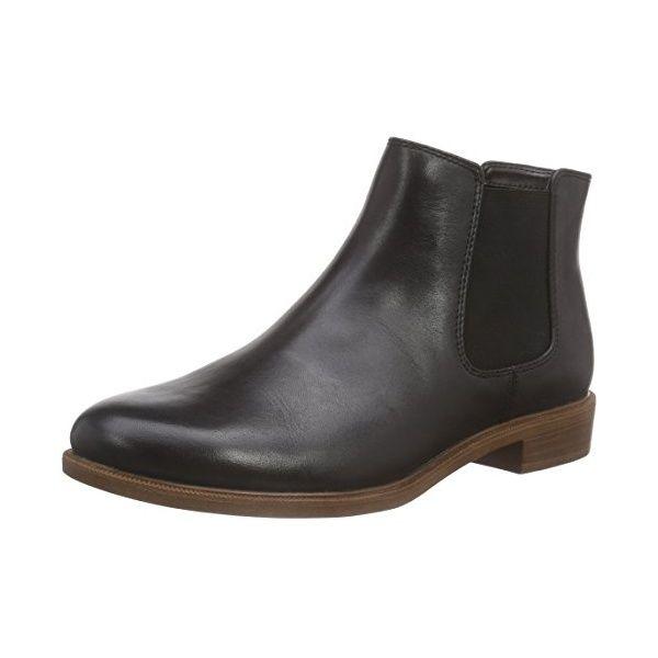 d7e96717a338 Clarks Taylor Shine, Damen Kurzschaft Stiefel, Schwarz (Black Leather), 41  EU