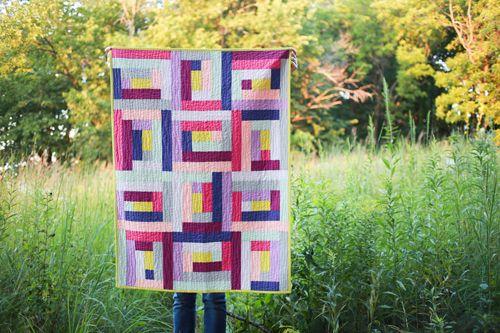 In Color Order: Rectangular Logcabin Wall Quilt