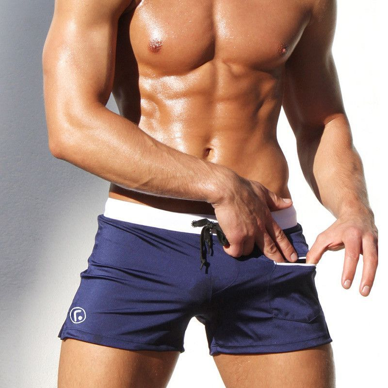 54d52cc86f468 AQUX new men s low rise swimwear sexy low personality male beach swimming  trunks shorts men boxer trunks bathing slips