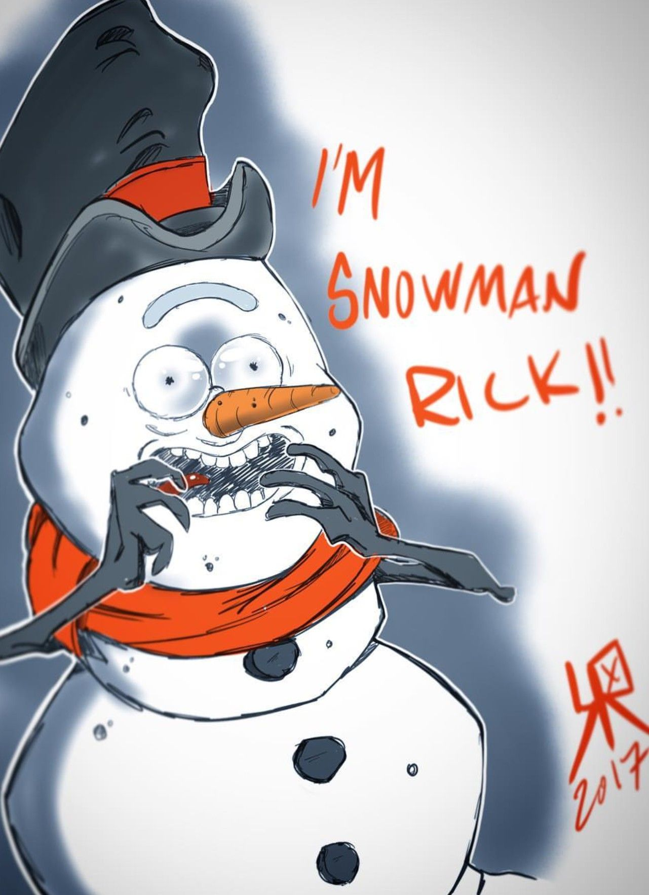 Rick and Morty x Snowman Rick!! (With images)   R rick and ...