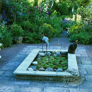 Raised rectangular lily pond google search joes garden for Rectangular koi pond