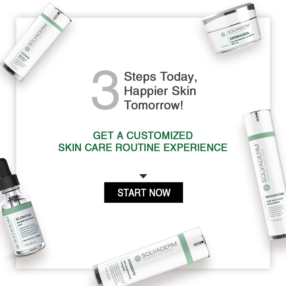 Customized skincare routine in 3 simple steps skincare