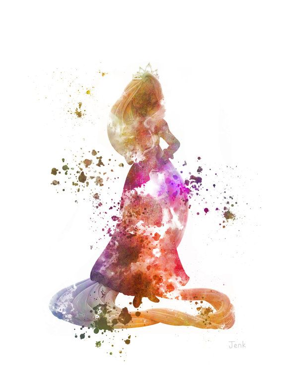 Rapunzel Inspired ART PRINT Illustration Disney Tangled